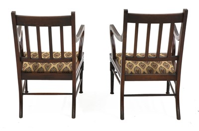 Lot 26 - A pair of walnut armchairs