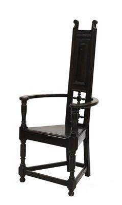 Lot 41 - A Shakespearian oak throne chair