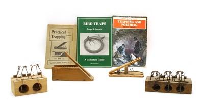Lot 74A - Four patent wooden mousetraps