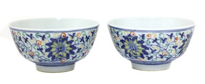Lot 30 - A pair of Chinese doucai bowls