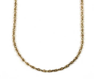 Lot 64 - A 9ct gold fancy link necklace