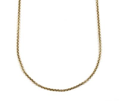 Lot 65 - A 9ct gold belcher link chain