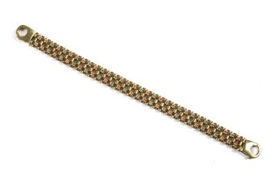 Lot 79 - A 9ct three colour gold bracelet