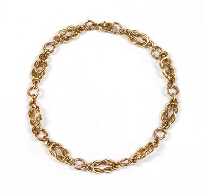 Lot 77 - A 9ct gold bracelet