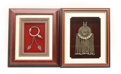 Lot 271 - Two framed items of jewellery