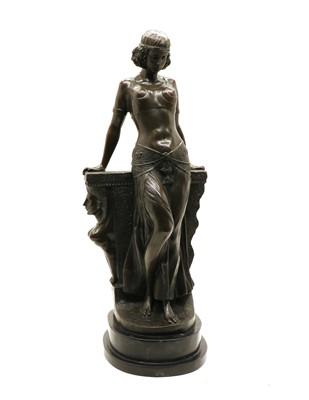 Lot 110 - 'An Egyptian Lady' a modern bronzed figure