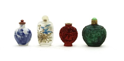 Lot 77 - A collection of 4 snuff bottles