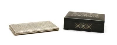 Lot 56 - A Persian silver cigarette case c.1890