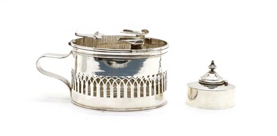 Lot 51A - An antique French silver chaffing dish