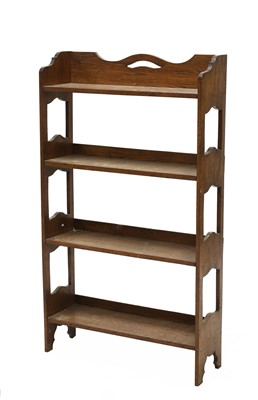 Lot 31 - An Arts and Crafts oak free-standing set of shelves