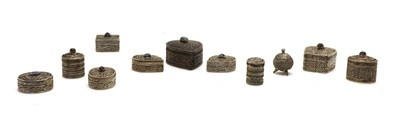 Lot 54 - Fifteen various Omani silver boxes