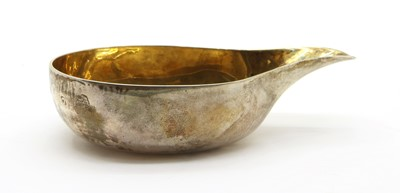 Lot 26 - A silver pap boat