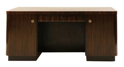 Lot 113 - An Art Deco Madagascan ebony desk