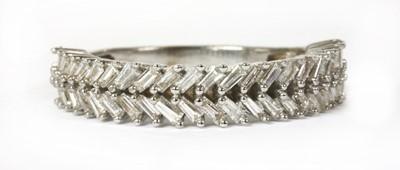Lot 94 - A white gold diamond ring