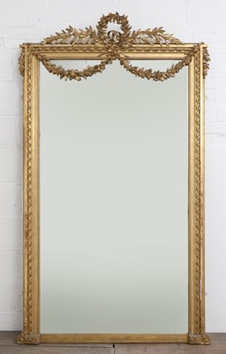 Lot 34 - A large French Louis XVI-style giltwood mirror