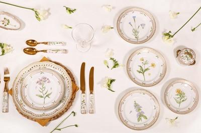 Lot An extensive Royal Copenhagen 'Flora Danica' porcelain dinner service