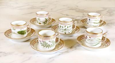 Lot 297 - A Royal Copenhagen 'Flora Danica' coffee service