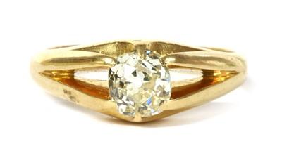 Lot 9 - An 18ct gold single stone diamond ring