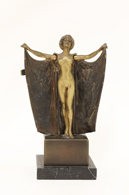 Lot 16 - An 'erotic' cold-painted bronze lady