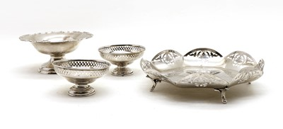 Lot 27 - A silver pierced dish Sheffield