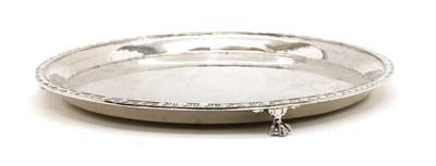 Lot 29 - A silver circular salver