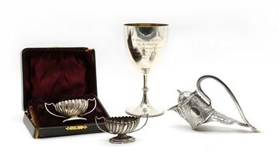 Lot 31 - A Victorian silver claret jug mount