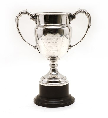 Lot 3 - A silver two handled trophy cup