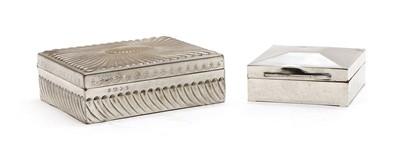 Lot 30 - Two silver cigarette boxes