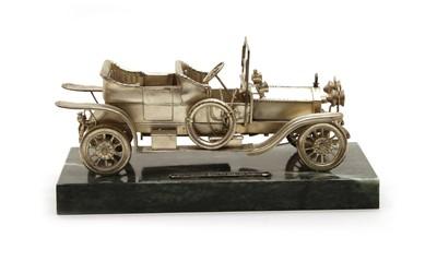 Lot 10 - A silver scale model of a Rolls Royce