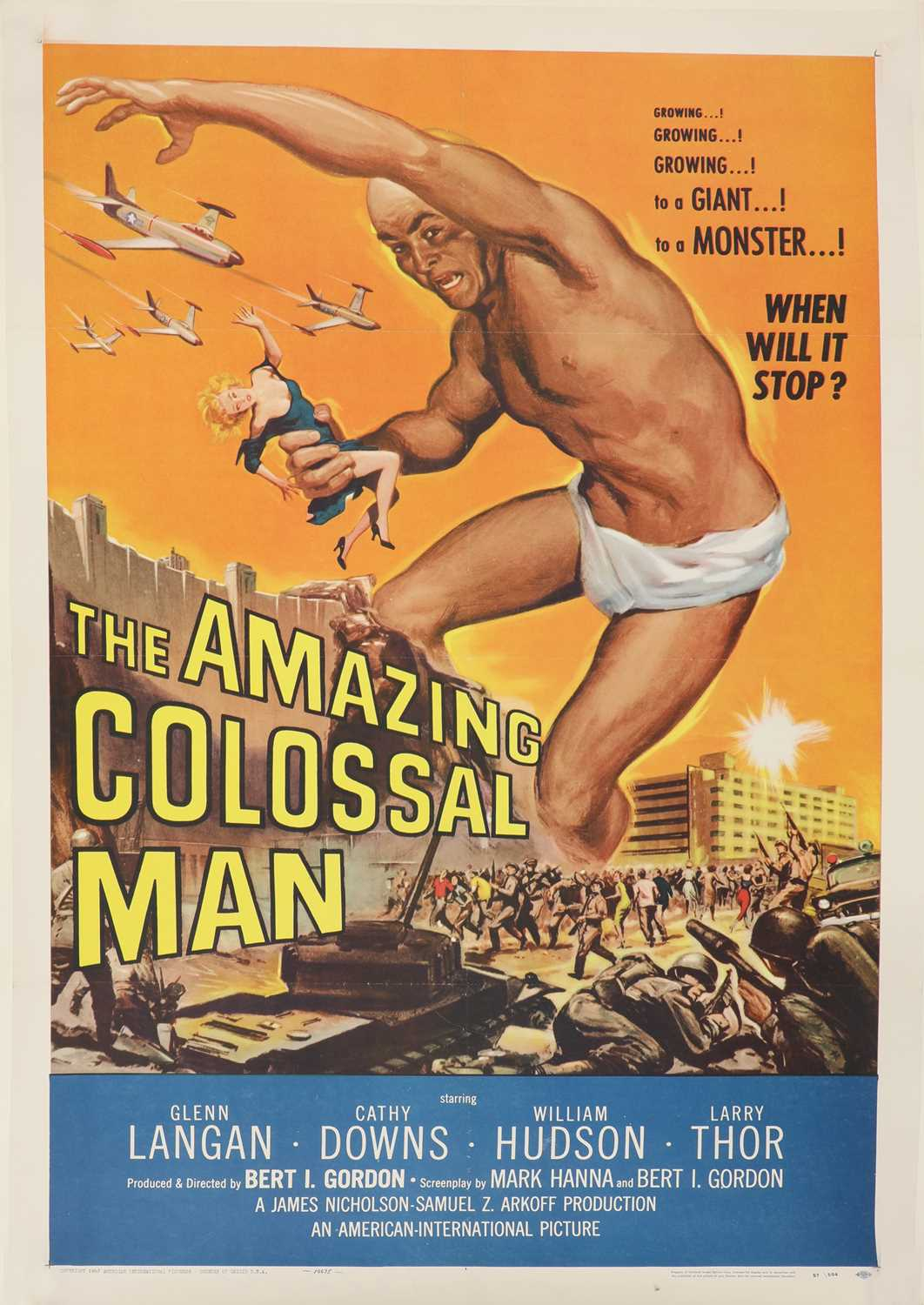 Lot 63 - 'THE AMAZING COLOSSAL MAN'