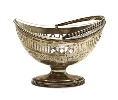 Lot 17 - A George lll oval silver sugar basket