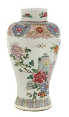 Lot 29 - A Chinese famille rose vase