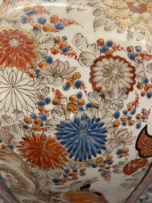 Lot 9 - A large pair of Imari vases and covers