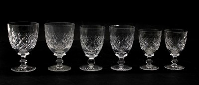 Lot 272 - A set of cut drinking glasses by Tudor