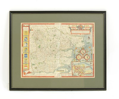 Lot 101 - A map of Essex by John Norden and John Speede