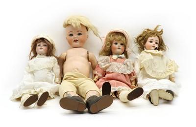 Lot 269 - Three bisque head dolls