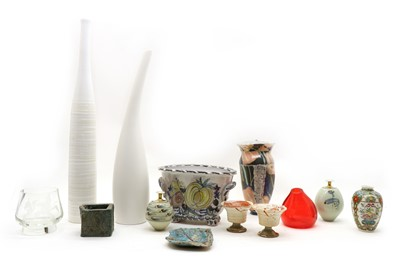 Lot 267 - A collection of mixed Studio Pottery jugs and vases