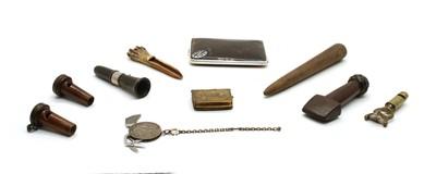 Lot 74 - Ten various wooden and metal artefacts
