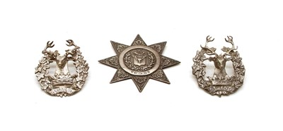Lot 1 - Three silver stag hunting brooches