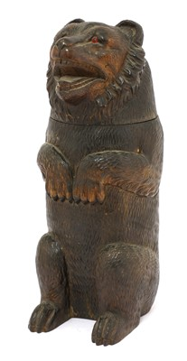 Lot 65 - A Black Forest tobacco box in the form of a bear