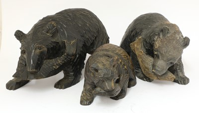 Lot 66 - A group of three Black forest bears