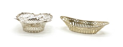 Lot 32 - Two pierced sterling silver bon bon dishes