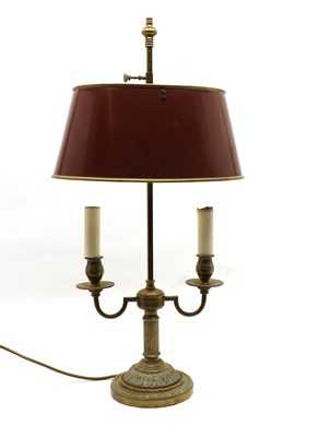 Lot 277 - A French brass bouillotte-style table lamp