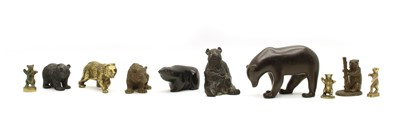Lot 66 - A collection of various bear figurines