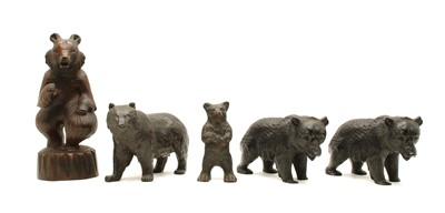 Lot 84 - A spelter figure of a standing bear
