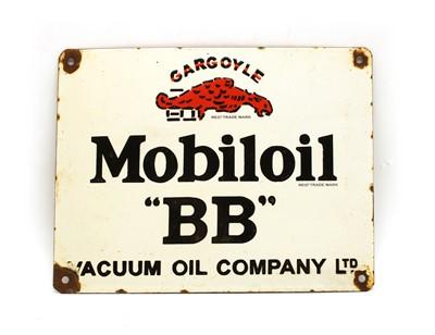 Lot 93 - A modern enamel advertising sign, Gargoyle Mobiloil 'BB'