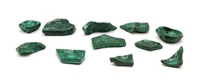 Lot 57 - A quantity of malachite carvings