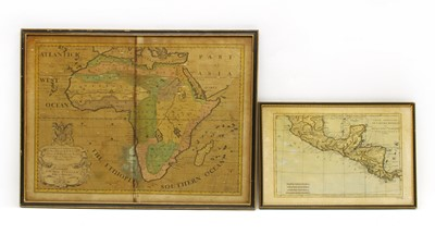 Lot 85 - A hand coloured map of Africa after Edward Wells