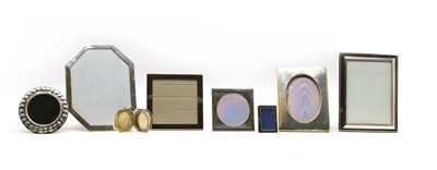 Lot 5 - A collection of silver photograph frames
