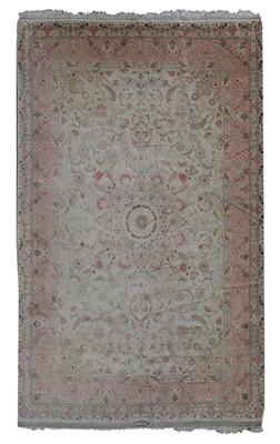 Lot 84 - A Persian wool and silk Tabriz rug